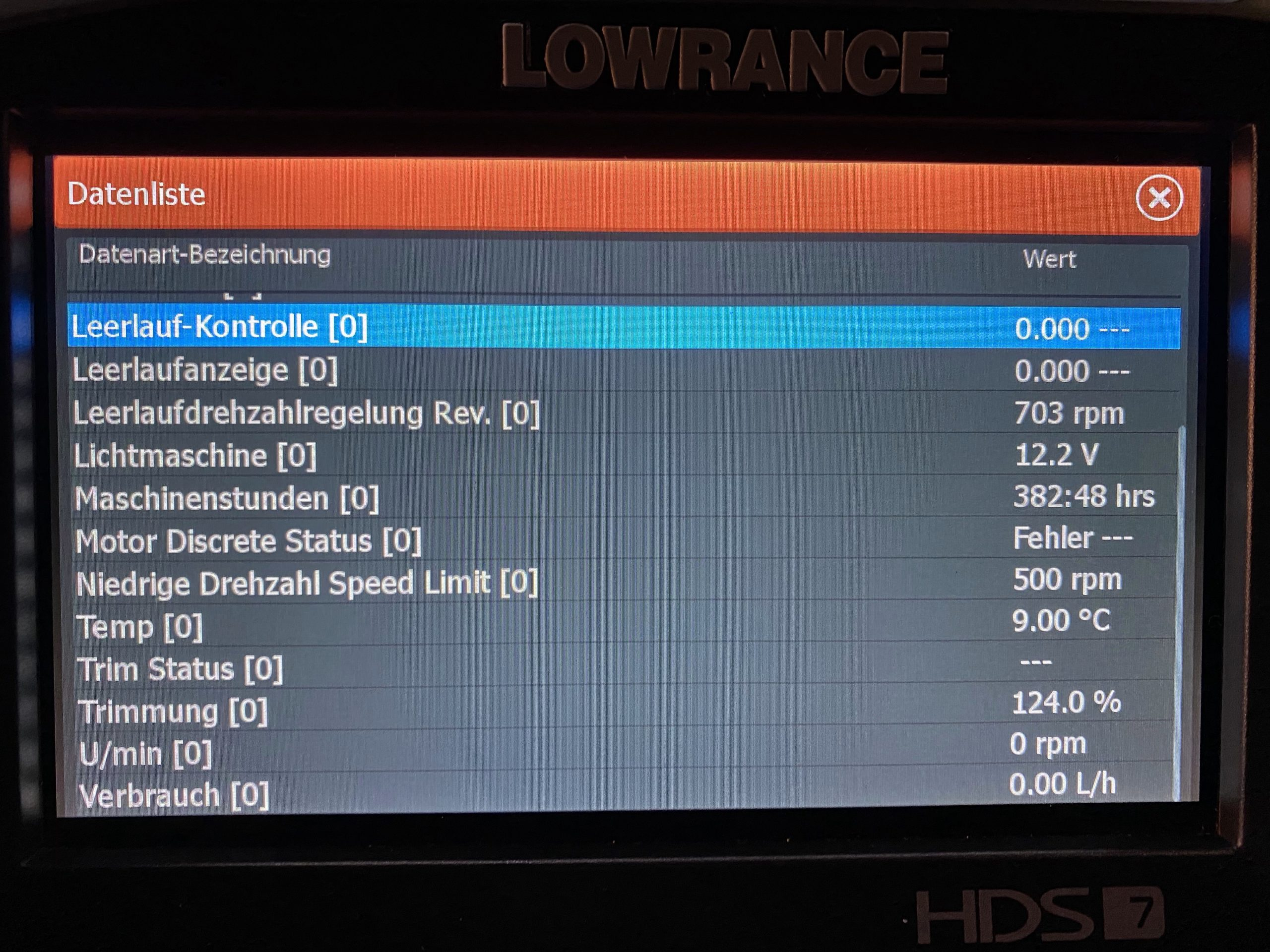 Lowrance Carbon HDS7 mit NMEA 2000 Netzwerk am Yamaha Außenborder