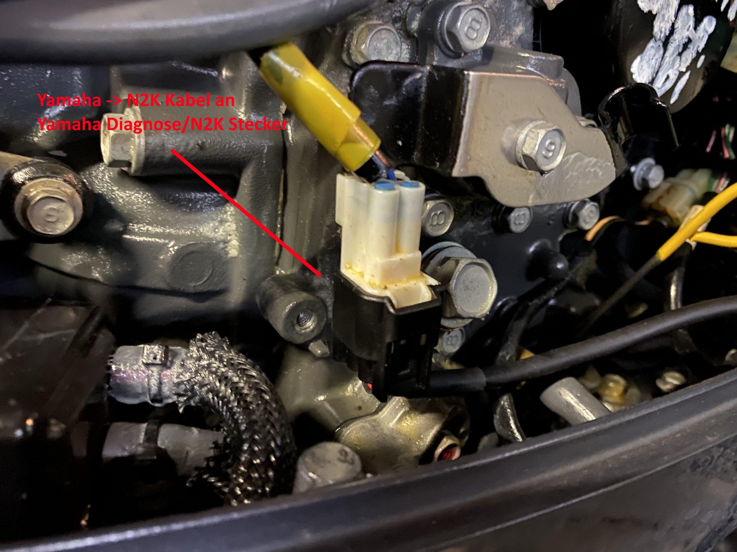 Yamaha -> NMEA2000 Kabel an Yamaha NMEA 2000/Diagnose Stecker